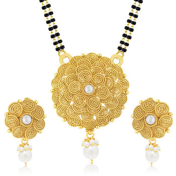 Sukkhi Glorious Jalebi Gold Plated Mangalsutra Set For Women