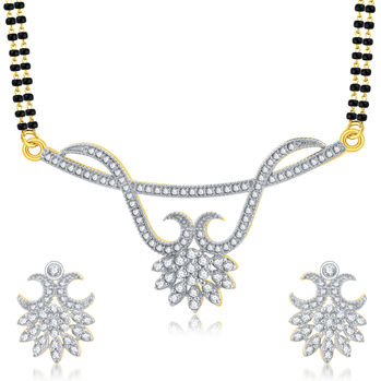 Pissara Bewitching Gold Plated CZ Mangalsutra Set For Women