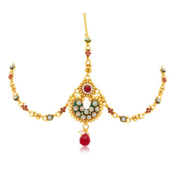 Sukkhi Beguiling Gold Plated Mathapatti For Women