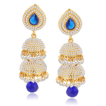 Sukkhi Excellent Gold Plated Pearl Jhumki For Women