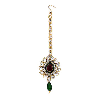 Sukkhi Trendy Gold Plated AD Mangtikka For Women