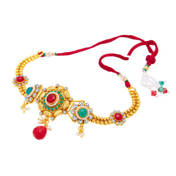 Sukkhi Excellent Gold Plated Bajuband For Women