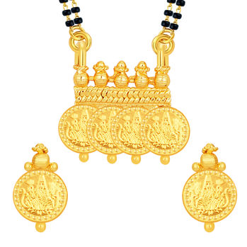 Sukkhi Magnificent Laxmi Temple Coin Gold Plated Mangalsutra Set For Women