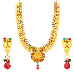 Sukkhi Beguiling Laxmi Temple Coin Gold Plated Necklace Set For Women