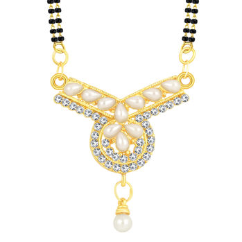 ShoStopper Pretty Gold Plated AD Mangalsutra Pendant