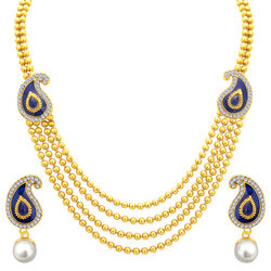Sukkhi Delightful Four String Gold Plated Necklace Set For Women