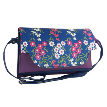 Sukkhi Purple and Blue Must Have Sling Bag