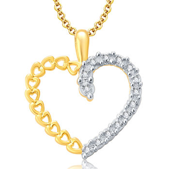 Pissara Sweety Gold And Rhodium Plated CZ Pendant For Women