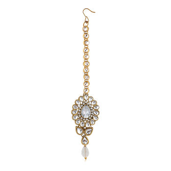 Sukkhi Resplendent Gold Plated AD Mangtikka For Women