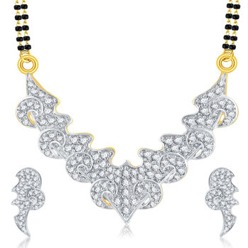 Pissara Alluring Gold Plated CZ Mangalsutra Set For Women