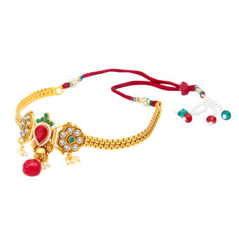 Sukkhi Wavy Gold Plated Bajuband For Women