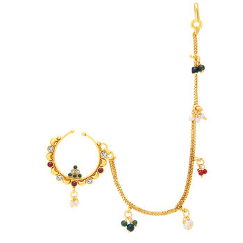 Sukkhi Exquitely Gold Plated Nose Pin For Women