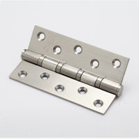 Bearing Hinges, 3 inches, silver, brass