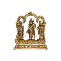Lord Ramji Parivar With Hanuman Brass Statue, brass