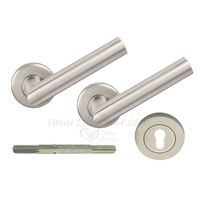 Mortise Rose Handle - Pears, 2 inches, nickel silver, stainless steel