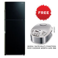 Hitachi Refrigerator Stylish Line Glass Door Inverter, RVG470PUK3GBK,  Glass Black, 470 Litre