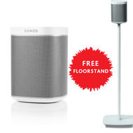 SONOS Play: 1 White+ Floor stand, White Bundle Offer! !,