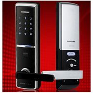 Samsung Digital Door Lock With Key Pin & Card Access,  White