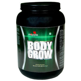 Mapple Body Grow Whey Protein Supplement 600Gms, chocolate