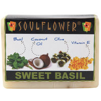Soulflower Sweet Basil Soap - 150 gms