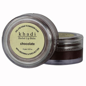 Khadi Natural Chocolate Lip Balm - With Beeswax & Shea Butter (KN2342)