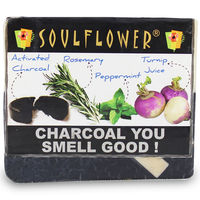 Soulflower Charcoal You Smell Good Soap - 150 gms
