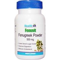 HealthVit FENUVIT Fenugreek Powder 500mg 60 Capsules (Pack Of 2)