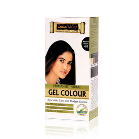 Indus Valley Permanent Herbal Colour-Medium Brown Kit - 180 gm