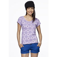 DUSG - Trikonasana Women's Organic Yoga Top, Colour: Orchid Bloom, xl