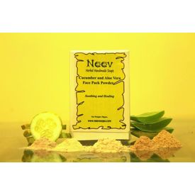 Neev Cucumber and Aloe Vera Face Pack Powder Soothing and Healing 50Gms