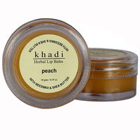 Khadi Natural Peach Lip Balm - With Beeswax & Shea Butter