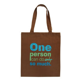 Clean Planet Tote activist - Power of One, shell cream