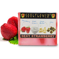 Soulflower Sexy Strawberry Soap - 150 gms