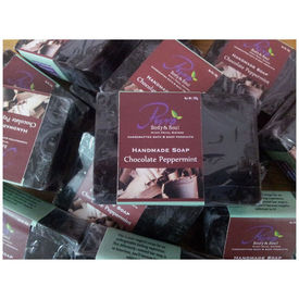 Puro Chocolate Peppermint Handmade Soap - 100 gms