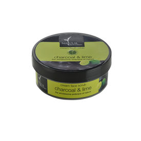 Natural Bath and Body Charcoal & Lime Cream Face Scrub 99 gm