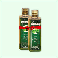 Woods and Petals Basil Body Massage Oil 100mL Set Of 2
