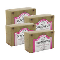 Pure Naturals Hand Made Soap Gereniol| Rose Petals - 125g (Set of 4)