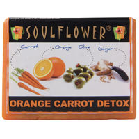 Soulflower Orange Carrot Detox Soap - 150 gms