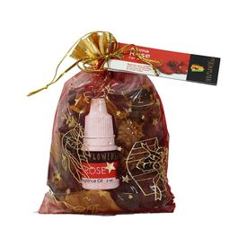 Soulflower Aroma Pouch Rose (With Bottle) 50 Gm
