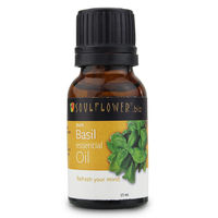 Soulflower Essential Oil Basil - 15 ml
