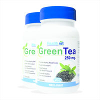 HealthVit Green Tea 60 Capsules, pack of 2