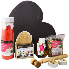 Soulflower Seductive Jasmine Spa Set - 110 gms