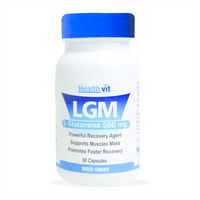 HealthVit LGM L-Glutamine 500 mg 60 Capsules For Mass Gain & Body Building