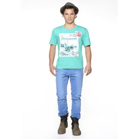 DUSG Travel Journals Men s Organic T-Shirt Colour: Atlantis, l