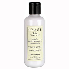Khadi Lavender Fairness Lotion - With Sheabutter - Paraben Free - 210 ml