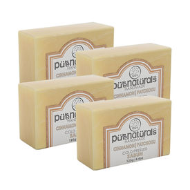 Pure Naturals Hand Made Soap Cinnamon| Patchouli - 125g (Set of 4)