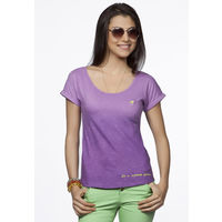 DUSG - Padmasana Women's Organic Yoga Top, Colour: African Violet, xl