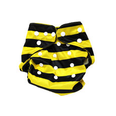 BumChum Cloth Diaper Cover with Snap On Insert - Busy Bee