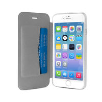 PURO IPHONE 6 PLUS ECO-LEATHER COVER with horiz. flip+ CARD SLOT,  white