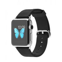 APPLE WATCH SERIES 1 38MM STAINLESS STEEL CASE WITH BLACK CLASSIC BUCKLE MLE62AE/A,  black, 38 mm
